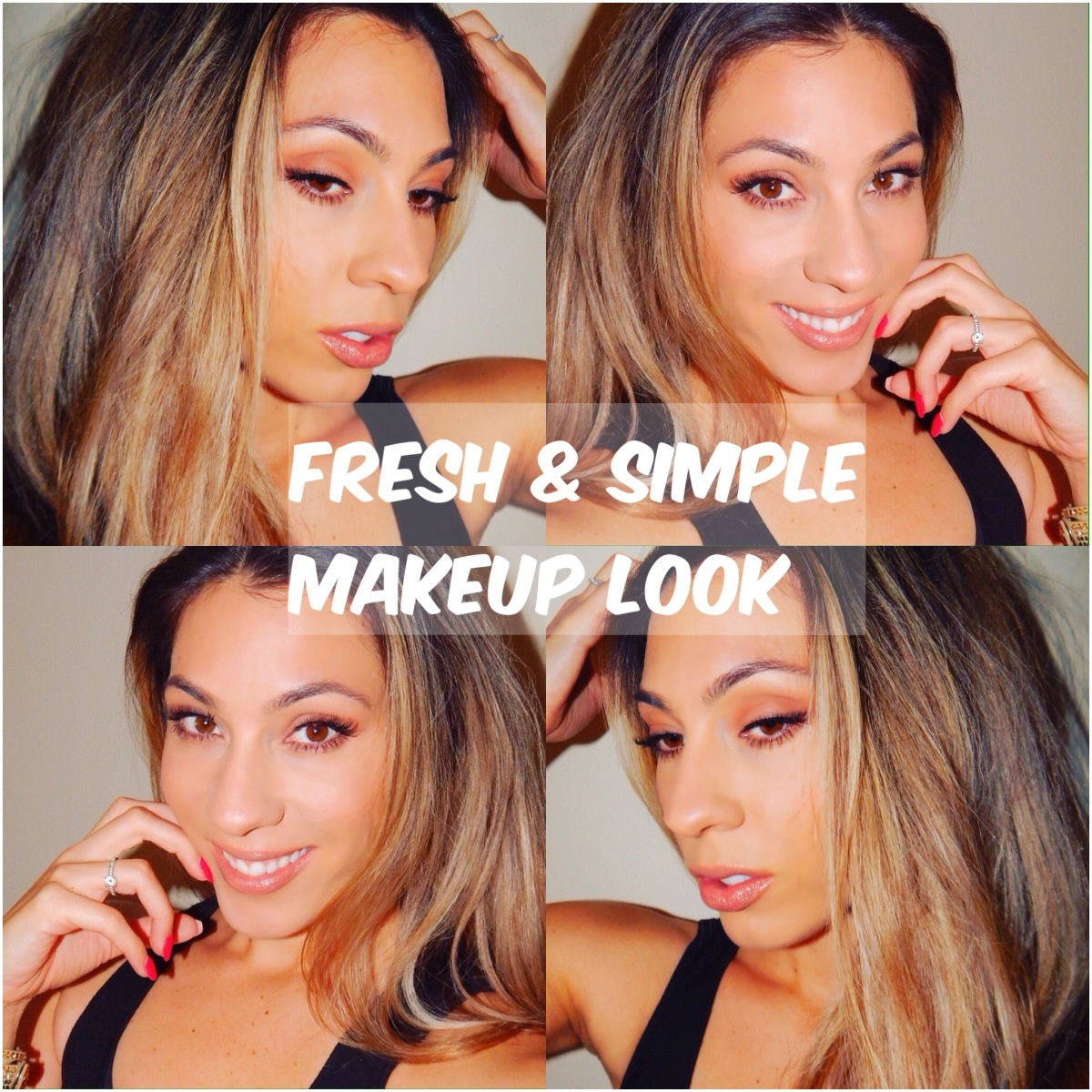 Fresh & Simple Daytime Makeup Look