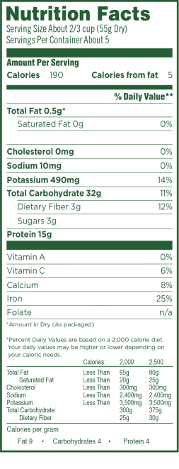 lentil-penne-nutrition-facts