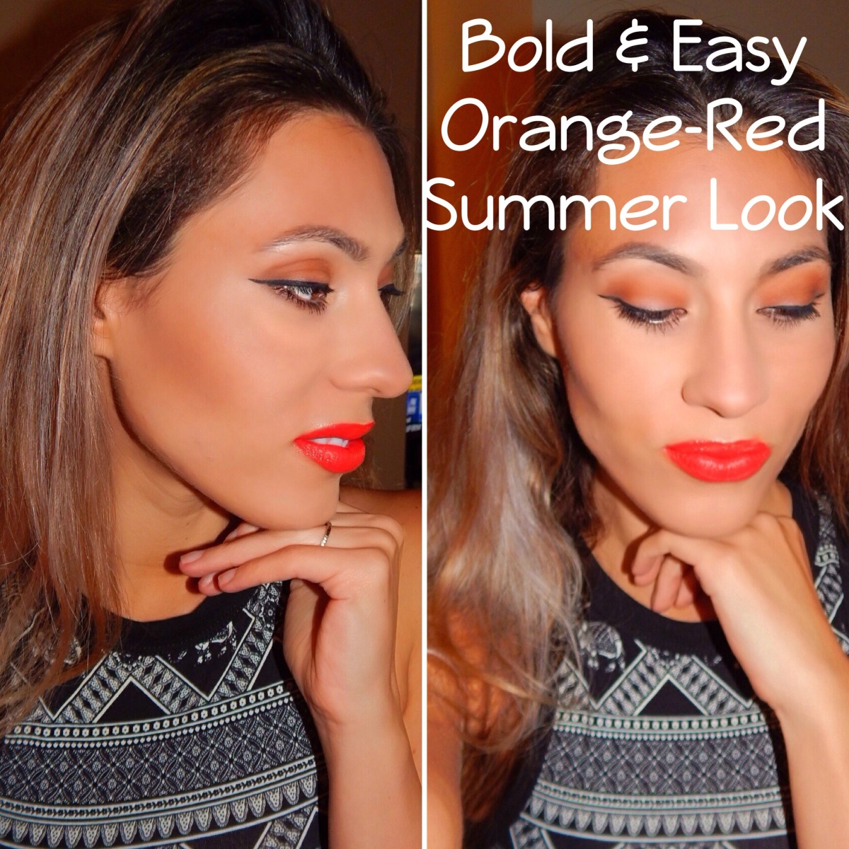 Bold & Easy Summer MakeUp Look